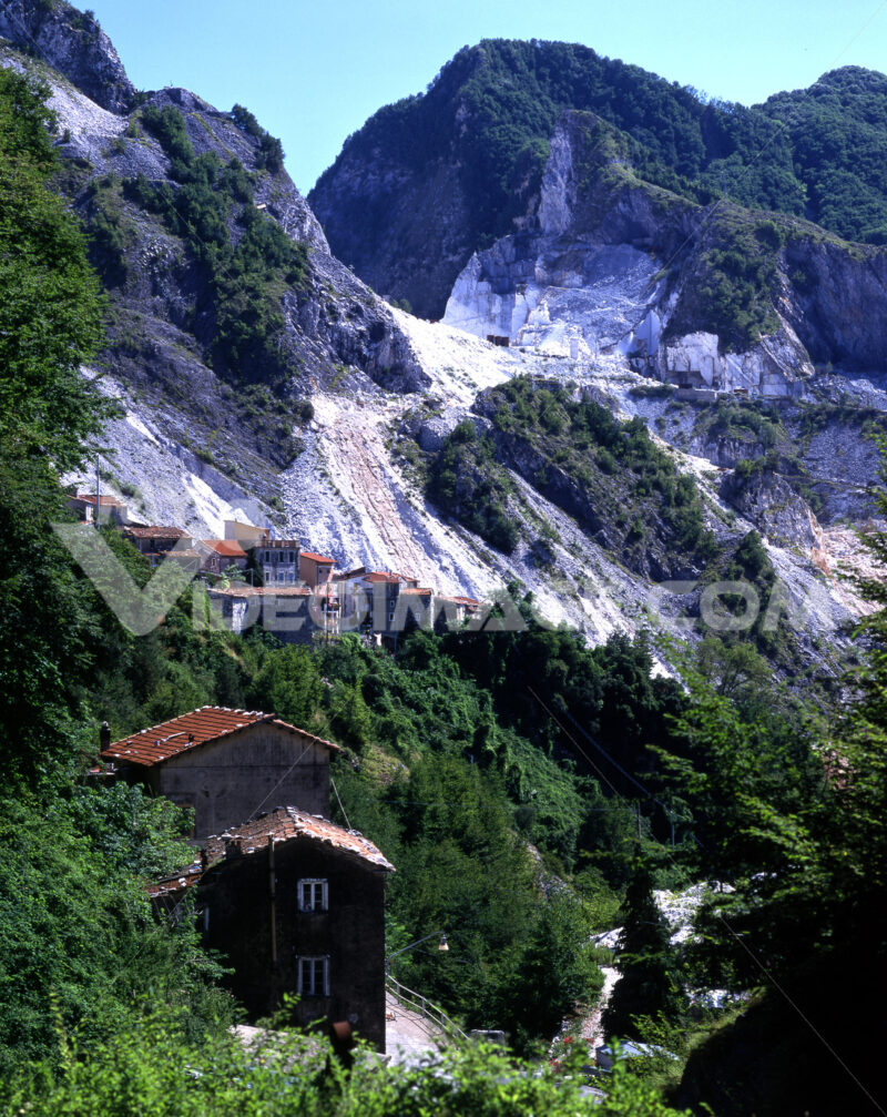 Colonnata Italy. Country of Colonnata near Carrara. Location famous for the production of Lardo di Colonnata. Toscana - MyVideoimage.com | Foto stock & Video footage