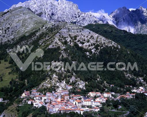 Country of Colonnata near Carrara. Location famous for the production of Lardo di Colonnata. Toscana - LEphotoart.com