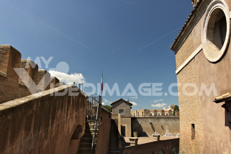 Courtyard of Castel Sant'angelo. - MyVideoimage.com