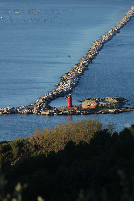 Dam of the port of La Spezia that separates the gulf from the open sea. Sea pictures - MyVideoimage.com