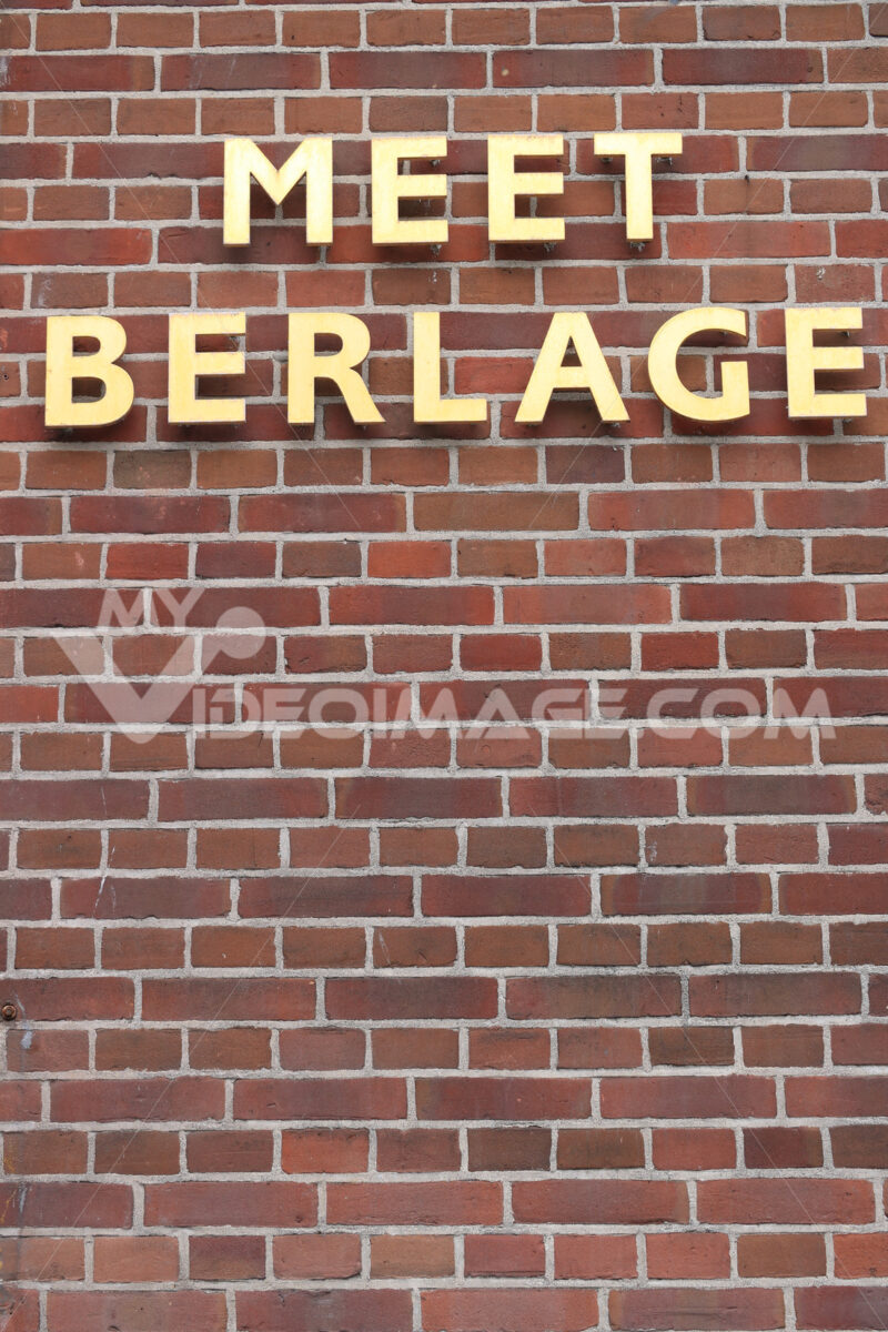 Dutch architect Berlage. Building designed by the great Dutch architect. Beurs van Berlag - MyVideoimage.com | Foto stock & Video footage
