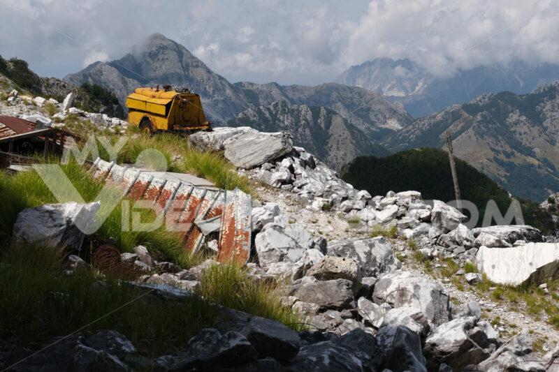 Environmental degradation. Environmental degradation in the mountains of Alta Versilia. Stock photos. - MyVideoimage.com   Foto stock & Video footage