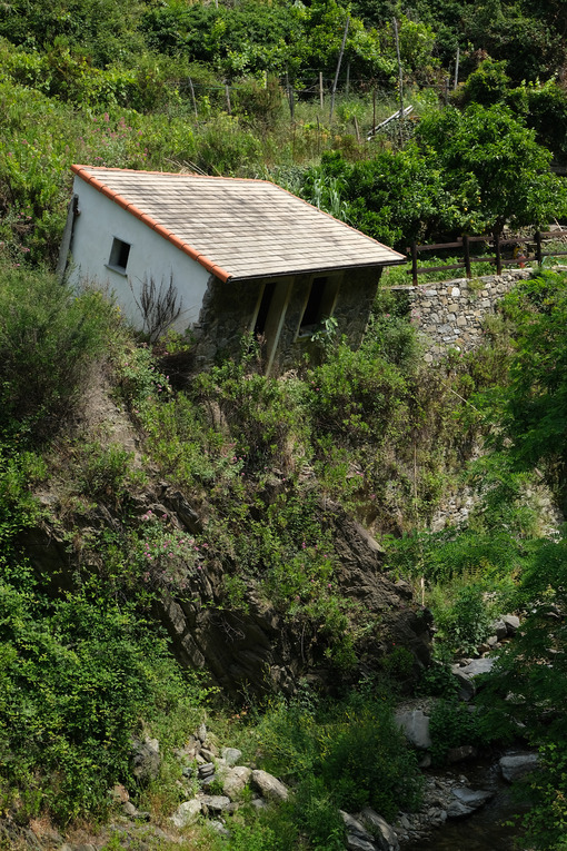 Environmental disaster. Small house collapsed due to the flood of the stream. - MyVideoimage.com