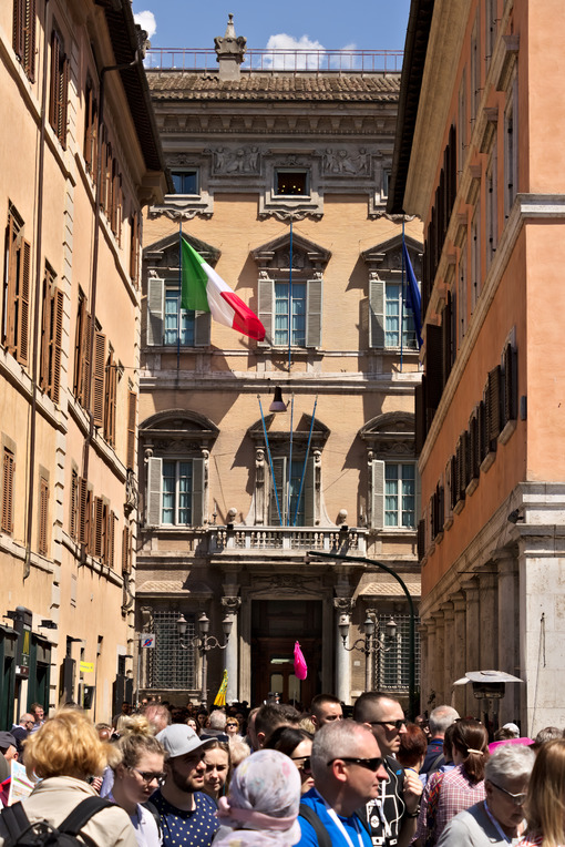 Facade of Palazzo Madama, seat of the Italian Senate. - MyVideoimage.com