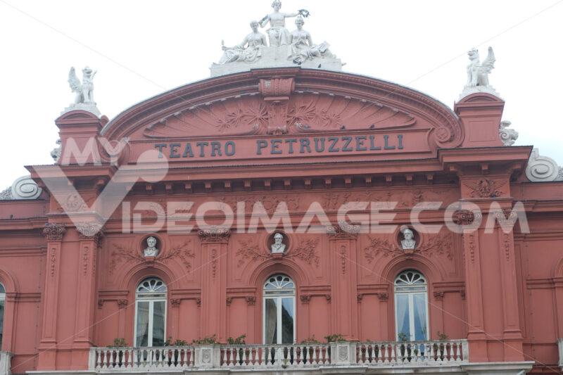 Facade of the Petruzzelli theater in Bari. In 1991 the theater was damaged by arson. Foto Bari photo.