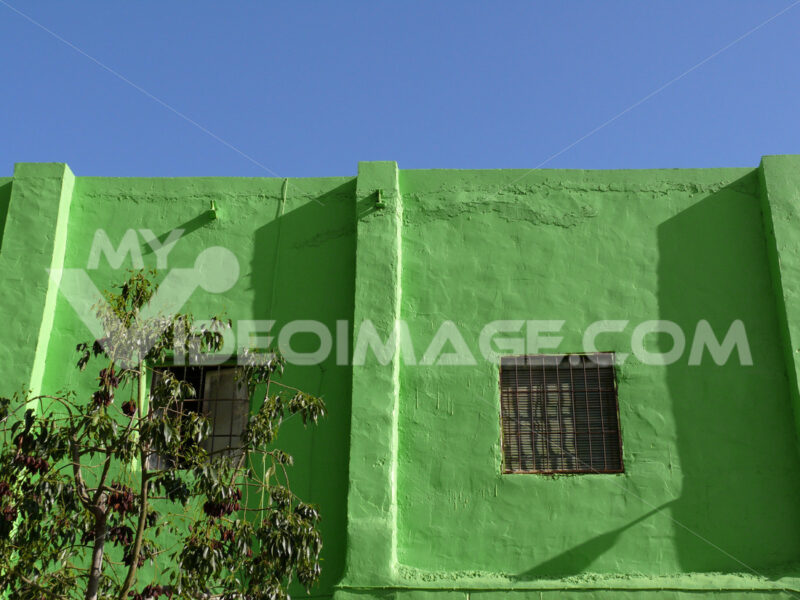 Facade with window painted green - MyVideoimage.com