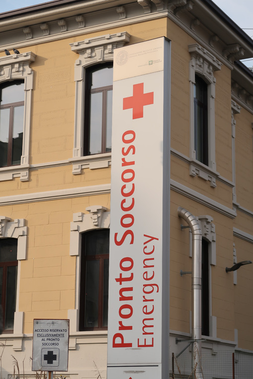 First aid sign of the Maggiore hospital, Milan hospital. - MyVideoimage.com