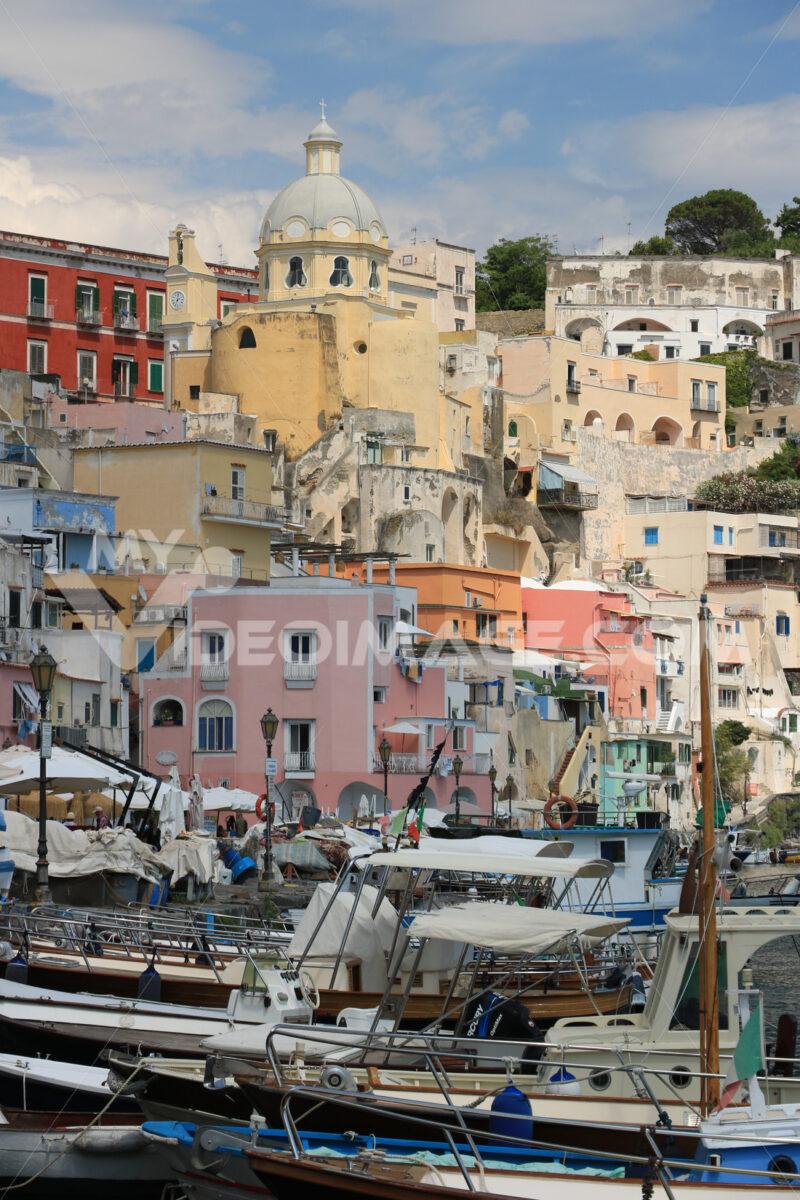 Fishing village. Procida photos. Village of Marina Corricella, Procida Island, Mediterranean Sea, - MyVideoimage.com | Foto stock & Video footage