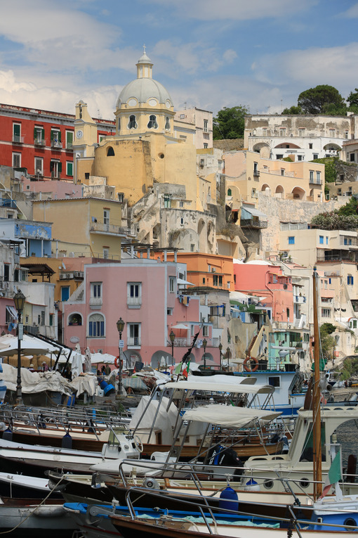 Fishing village. Procida photos. Village of Marina Corricella, Procida Island, Mediterranean Sea, - MyVideoimage.com | Foto stock & Video footage