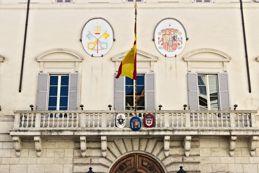 Front of the building housing the Spanish embassy. - MyVideoimage.com