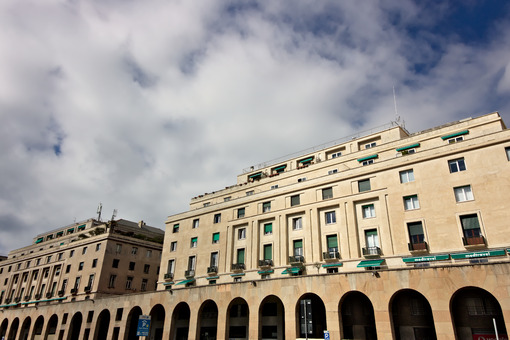 Genoa, Italy. 04/05/2019. Palaces of the fascist period. - MyVideoimage.com