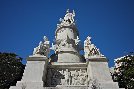 Genoa. Christopher Columbus Monument - MyVideoimage.com | Foto stock & Video footage