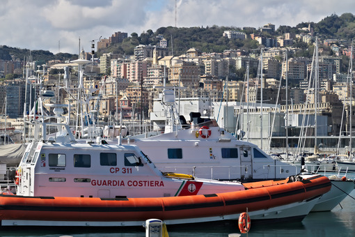 Genoa. Coast Guard boats - MyVideoimage.com | Foto stock & Video footage