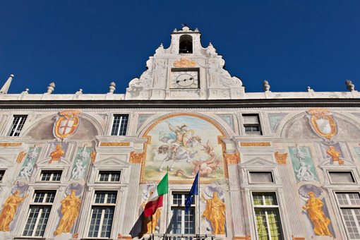 Genoa. Palace of San Giorgio - MyVideoimage.com | Foto stock & Video footage