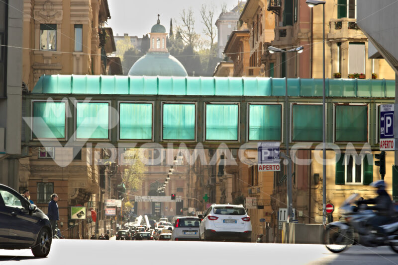 Genoa. Road traffic and pedestrian tunnel. - MyVideoimage.com | Foto stock & Video footage