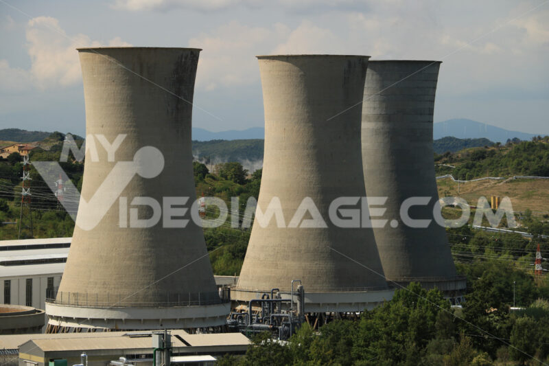 Geothermal power plant for electricity production. Stock photo royalty free - MyVideoimage.com