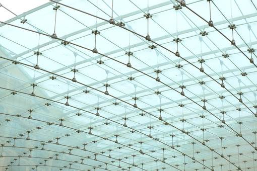 Glass roof of modern square. - MyVideoimage.com | Foto stock & Video footage