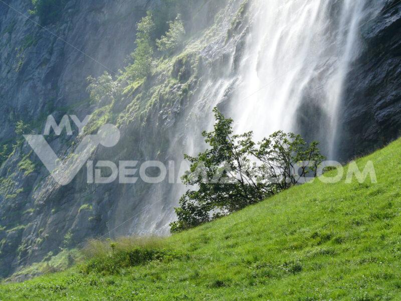 Grindelwald. Switzerland. Waterfall in alpine landscape. Foto Svizzera. Switzerland photo