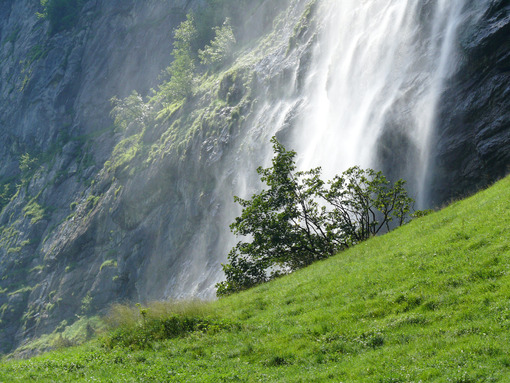 Grindelwald. Switzerland. Waterfall in alpine landscape. Foto Svizzera. Switzerland photo