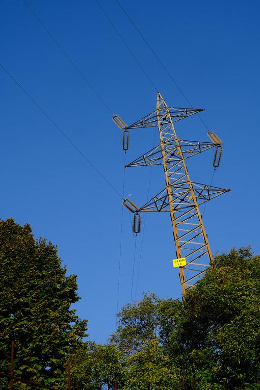 High voltage pylon. High voltage electric pylon. Stock photos. - MyVideoimage.com | Foto stock & Video footage
