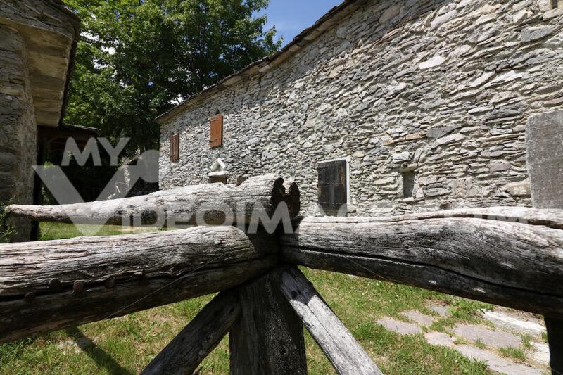 Houses in stone and white marble stones.  Campocatino, Garfagnana, Apuan Alps, Lucca, Tuscany. Italy. - LEphotoart.com