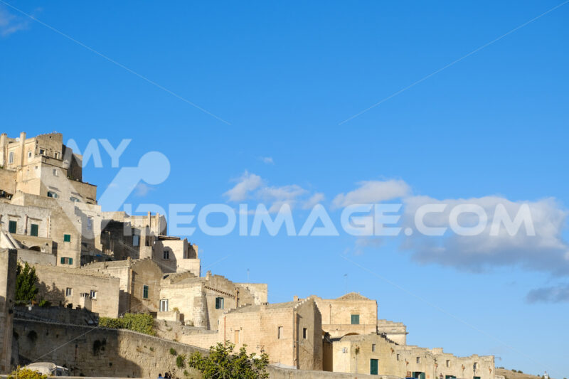 Houses in tuff stone from the city of Matera. Many homes are transformed into hotels and B & Bs. - MyVideoimage.com