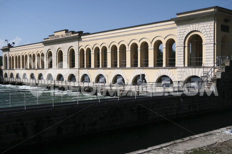 Hydroelectric power plant station on Canale Villoresi - MyVideoimage.com