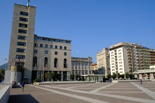 La Spezia building. Town Hall of La Spezia, civic palace.  Stock photos. - MyVideoimage.com | Foto stock & Video footage