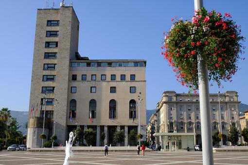 La Spezia town hall. Town Hall of La Spezia, civic palace.  Stock photos. - MyVideoimage.com | Foto stock & Video footage