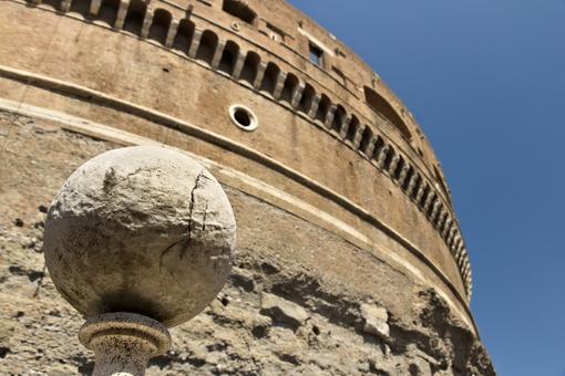 Marble sphere in Castel Sant'angelo. - MyVideoimage.com