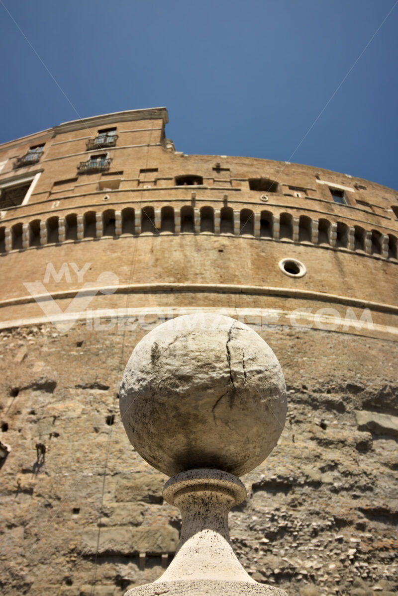Marble sphere in Castel Sant'angelo. - MyVideoimage.com