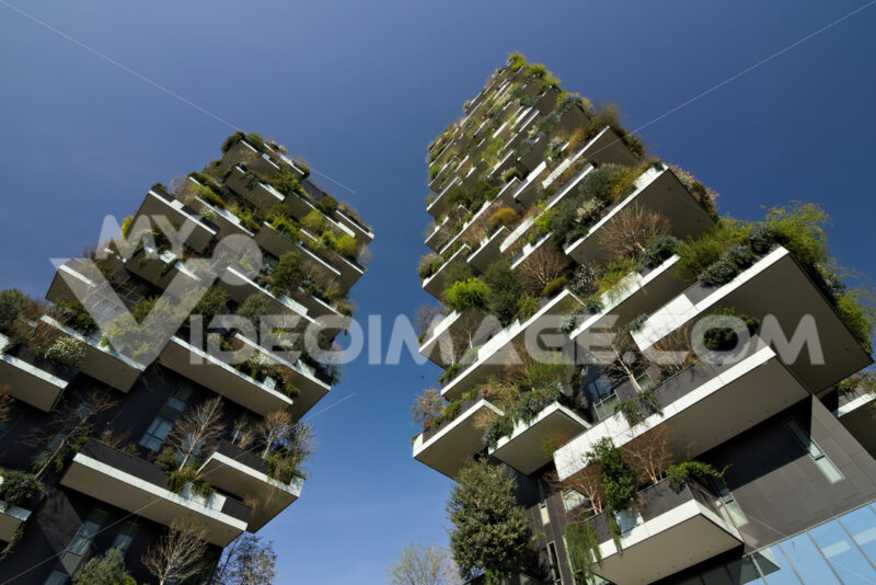 "Milan March 21 2019. ""Bosco Verticale"" skyscrapers built in Milan between the Isola district and Porta Garibaldi. Photo stock - LEphotoart.com"