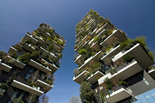 "Milan March 21 2019. ""Bosco Verticale"" skyscrapers built in Milan between the Isola district and Porta Garibaldi. Photo stock - LEphotoart.com"