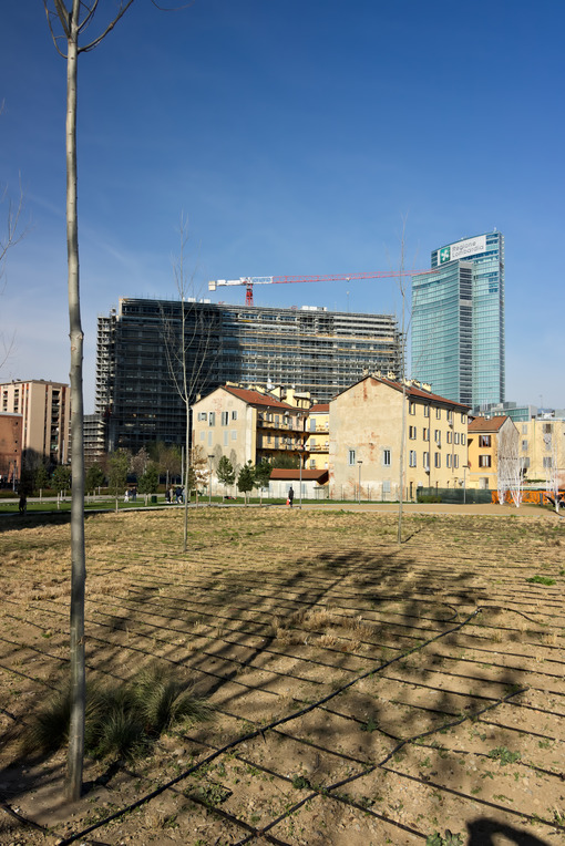 Milan March 21 2019. Ancient farmhouses and new tree planting - MyVideoimage.com