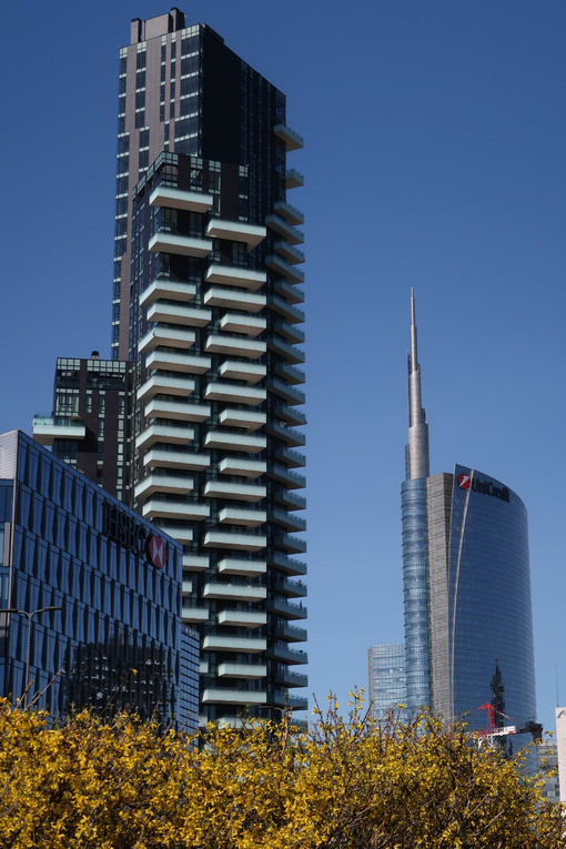 Milan skyscrapers in the Porta Nuova area, Porta Garibaldi. - LEphotoart.com