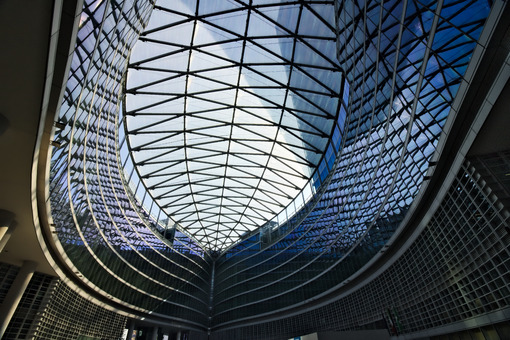 Milan. Italy. March 21 2019. Building headquarters of the Lombardy Region built with glass facade. - MyVideoimage.com