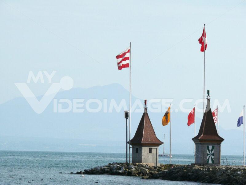 Morges, Switzerland. Detail of the town on Lake Geneva. Foto Svizzera. Switzerland photo