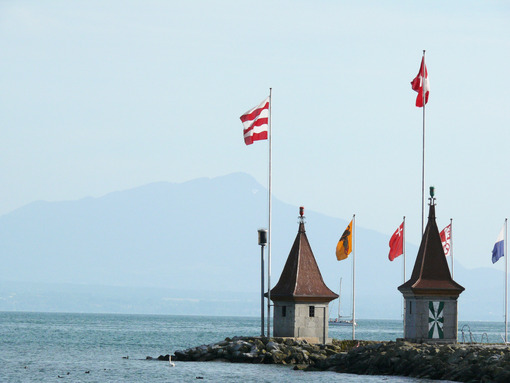 Morges, Switzerland. Detail of the town on Lake Geneva. Foto Svizzera. Switzerland photo
