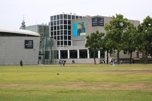 Museo Van Gogh. Van Gogh Museum. New pavilions of contemporary and modern archit - MyVideoimage.com | Foto stock & Video footage