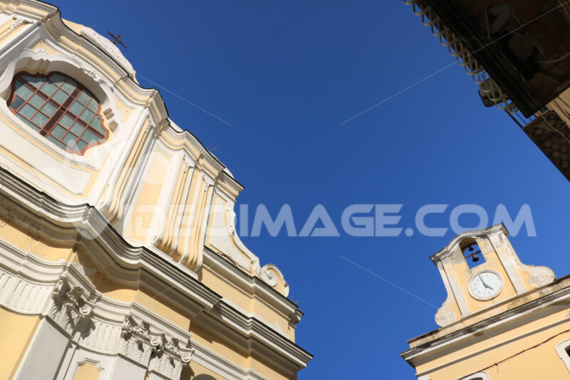 Museum of the sea and church in the small Mediterranean village - MyVideoimage.com