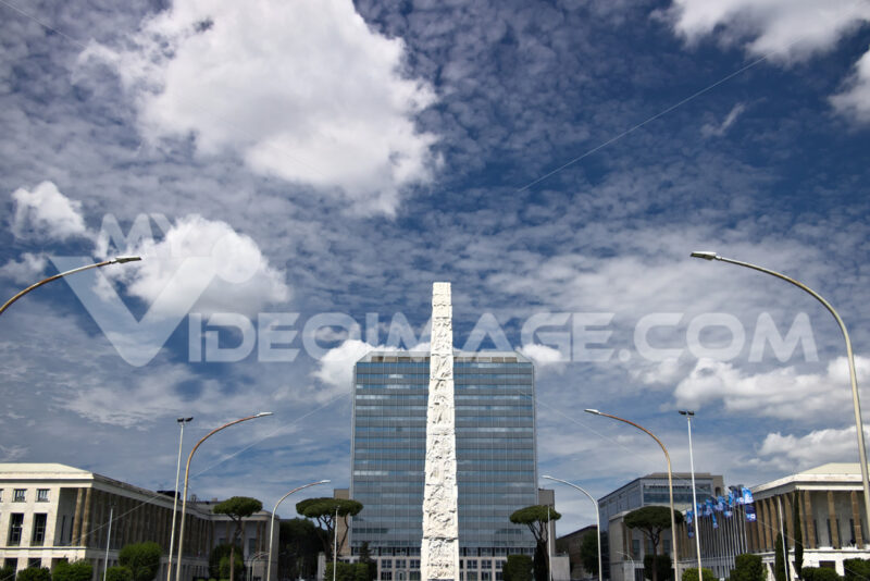 Obelisk to Gugliermo Marconi placed in Rome Eur. - LEphotoart.com