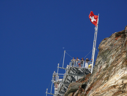 Observation point at Jungfraujoch - MyVideoimage.com