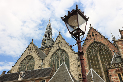 Old Church, Oude Kerk, is the oldest church in the city. It is l - MyVideoimage.com