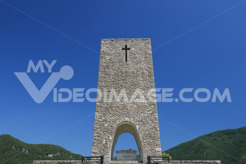 Ossuary monument of Sant'Anna di Stazzema. Memorial of the Nazi massacre of 12 August 1944. - MyVideoimage.com