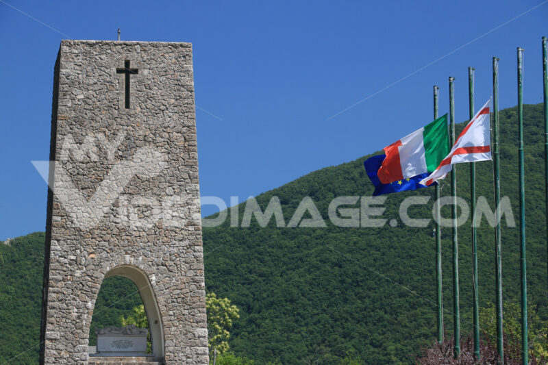 Ossuary monument of Sant'Anna di Stazzema. Memorial of the Nazi massacre of 12 August 1944. - LEphotoart.com