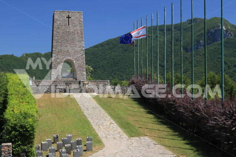 Ossuary monument of Sant'Anna di Stazzema. Memorial of the Nazi massacre of 12 August 1944. Toscana - LEphotoart.com