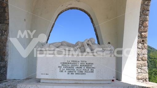 Ossuary monument of Sant'Anna di Stazzema. Memorial of the Nazi massacre of 12 August 1944. Toscana - LEphotoart.com