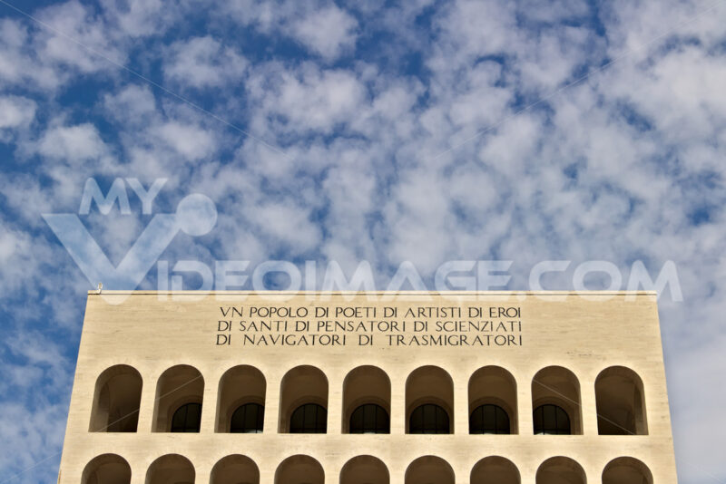 Palace of Italian Civilization built in Rome EUR. Fendi exhibition. - MyVideoimage.com