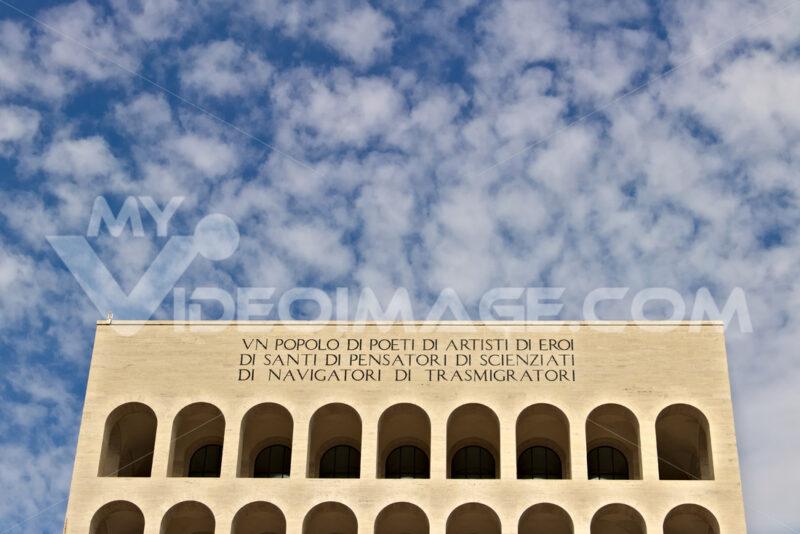Palace of Italian Civilization built in Rome EUR. Fendi exhibition. - MyVideoimage.com