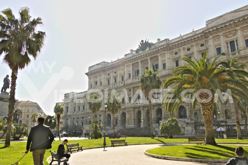 Palace of the Court of Cassation and gardens. - MyVideoimage.com